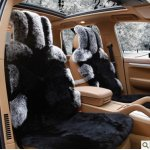 尼罗河澳洲狐狸毛汽车坐垫 龙城飞将高端奢华稀皮