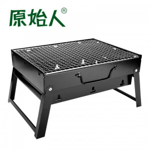 原始人烧烤炉烧烤架户外可折叠木炭3-5人全套便携加厚烤炉