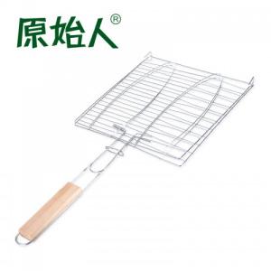 原始人 烧烤工具 烤鱼夹 烤鱼网 烤汉堡网 烧烤配件