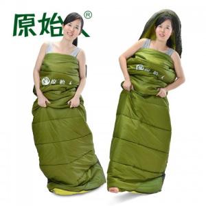 原始人冬季加厚夏款成人睡袋夏用信封帐篷睡袋单人春夏秋户外睡袋