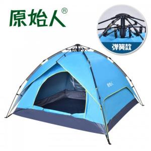 原始人户外全自动液压帐篷3-4人野营帐篷双人露营速开帐篷装备